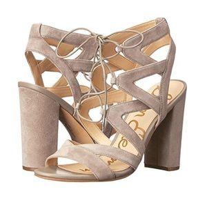 Sam Edelman yardley lace up suede sandal